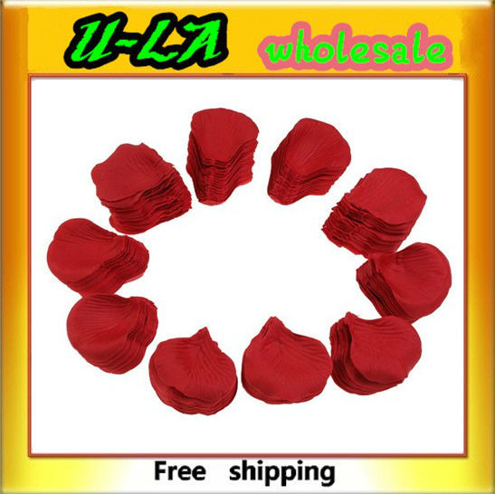 Wholesale 1000 x Red Silk Rose Petals Wedding Flowers New free shipping(China (Mainland))