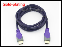 Free shipping standard HDMI cable 3m Gold plated  version 3D HD for1.4