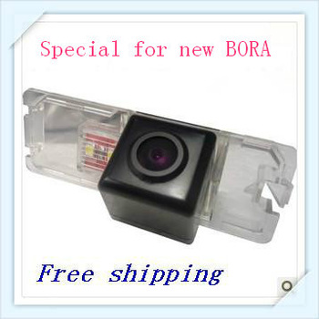 Free shipping ,car back camera ,waterproof ,color parking line  ,for VW new bora  with  CCD effects