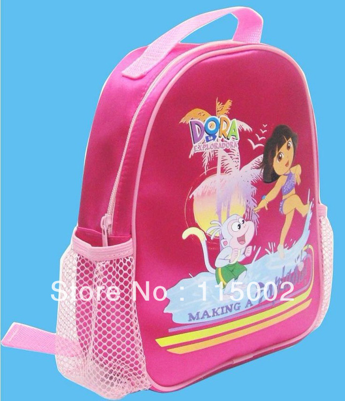 Wholesale 4 pcs High Quality Nylon Dora the Explorer Backpack Child Pre School Bag dark red child bags(China (Mainland))