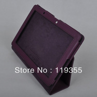 Free Shipping Leather case Lichee Stand cover protective shell skin for Acer Iconia Tab A700 A701 A510