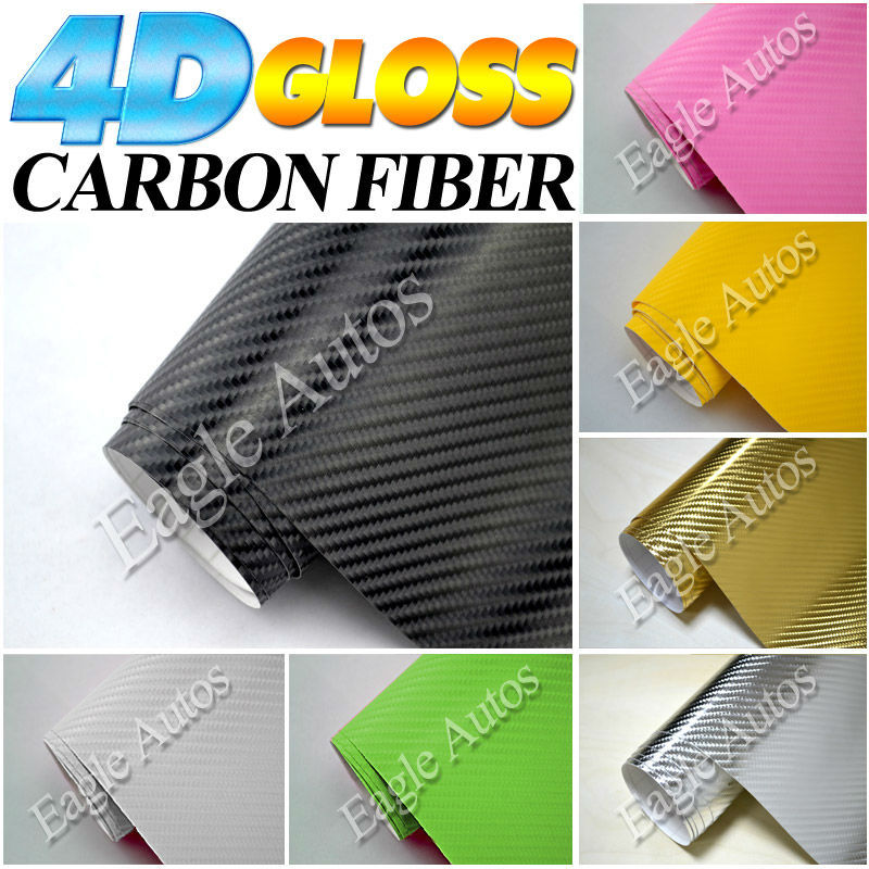 HOT SELLING 4D Look Real Carbon Car Wrap Vinyl Film For Auto Color Changing / Size: 1.52 M*30 M(China (Mainland))