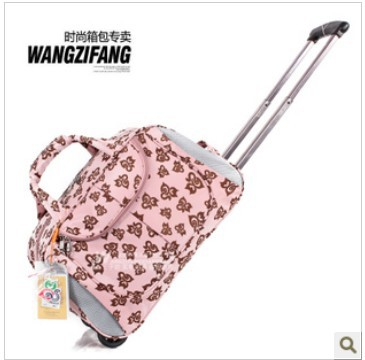 Free shipping,2013 hot sale cat Travel bag pull rod bags luggage bag oxford 6 color(China (Mainland))