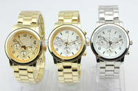 10pcs/lot fashion good alloy metal band,precise Japan PC21 imported movement gift no brand watch man without calendar