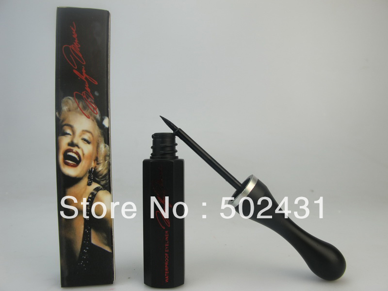 Brand Name make up eye liner,Cosmetics makeup Marilyn Monroe new waterproof eyeliner 5pcs/lot free shipping(China (Mainland))