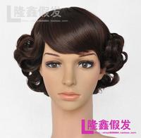 Longxin wigs women's wifing wig fluffy oblique bangs jiafa
