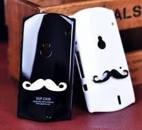 New Hot LEON Chaplin Sexy 3D Beard Mustache Hard Back Case Cover Tasche For Sony Ericsson Xperia Neo / Neo V   Free Shipping