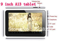 Free shipping 9 inch dual camera A13  Tablet PC android4.0 800*480 5points capacitive screen 512MB/8GB WiFi
