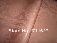 Guinea Brocade peach color 100% cotton jacquard damask for african abaya garment ONLY 10 YARDS IN STOCK free shipping