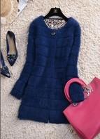 2014 Direct Selling New Fashion Long Full Tricotado Sweater Women Marten Velvet Overcoat Thickening Outerwear Cardigan Women's