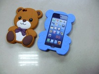 High Quality 3D Teddy Bear Soft Silicone Skin Cover Case For iphone 5 5G 5th Free Shipping UPS DHL EMS HKPAM CPAM