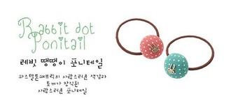 5pcs/lot 2015 hot hair accessory candy fabric polka dot bow headband sweet rabbit dot hair rope A5039