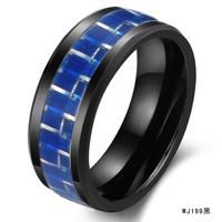 Men Boy Fashion accessories jewelry carbon fiber space ceramic ring wj199 black