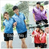 Free shipping2012 new badminton clothing badminton set badminton clothing badminton shirt couple track suit for men and women