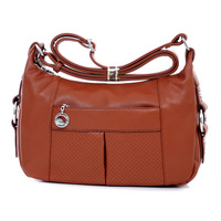 Freeshipping 2013 new fashion multi-pocket women's handbag messenger bag shoulder handbag