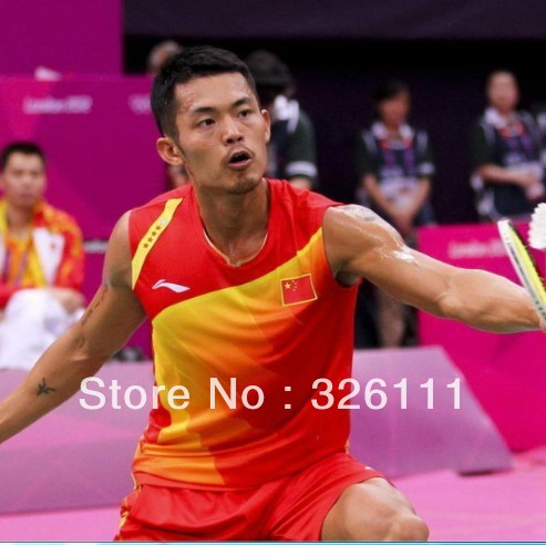 Free shippingSpecial! Badminton clothing badminton clothing suit Lin Dan badminton game service(China (Mainland))