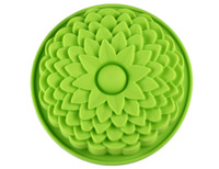Free shipping Silicone Flower Shaped Cake Mould,DIY Tray
