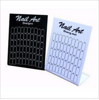 free shipping 12pcs Nail art nail art tool nail art display boards black and white