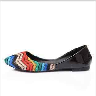 Europe and the new large size women's shoes, woven uppers small pointed flat flat with large size shoes(China (Mainland))