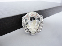 Modern Fashion Chrome K9 Crystal Glass Cabinet Knobs Pull Handle New (Diameter: 32MM)