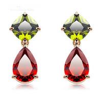 Top aaa zircon multicolor zircon stud earring mona lisa birthday gift girls Zircon earrings
