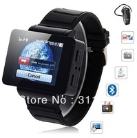 Iwatch 2013 watch mobile phone i5 intelligent map qq ultra-thin watch mobile phone DHL free