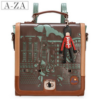 2013 vintage bags preppy style cutout backpack one shoulder cross-body portable women's handbag