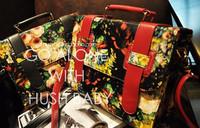 2013 fashion vintage elegant oil painting flower bag all-match women's one shoulder handbag box shaping