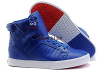 Wholesale Popular Justin Bieber Men's Popular Skate Board Shoes (varsity royal / white / red)
