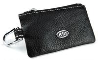 New Arrival KIA logo genuine leather Key Bag/Key Pouch/Key Wallet Free Shipping