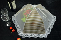 Quality fashion rectangle folding food cover dining table covertartan design