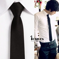 Men's small tie thin black tie tide