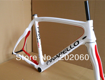 Free shipping|Pinarello Dogma 65.1 White Red|Think 2 Frame+Fork+Seatpost+Clamp+Headset road bicycle frameset