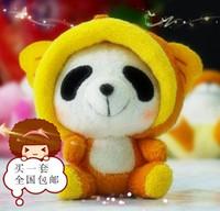 Free Shipping wholesale toys 6pcs/lot 10cm Panda  plush toy  pendant  bags pendant