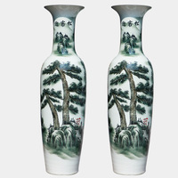Ceramic large floor vase at home decoration