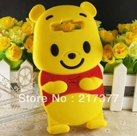 3D Winnie Silicon Back Cover Case For  Samsung Galaxy Grand Duos i9082 Free Shipping