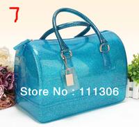 Bags 2013 female candy transparent bag color block jelly women's handbag hand messenger bag