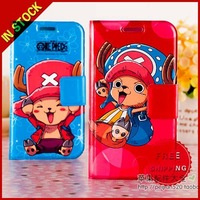 For Samsung Galaxy S4 SIV I9500 Cartoon One Piece Chooper Flip PU Leather Cover Case