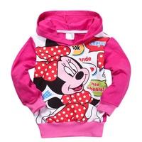 Free Shipping Hot 6pcs/lot Kids boys girls hoodies coat children cartoon mouse hoody kids outerwear sport clothing wholesale