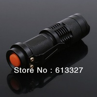 Mini LED Torch 7W 300LM CREE Q5 LED Flashlight, Adjustable Focus Zoom flash Light