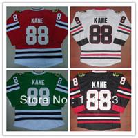 Wholesale-Patrick Kane #88 Red,White,Black,Green Hockey Jersey Size:48~56+Mix Order,Free Shipping