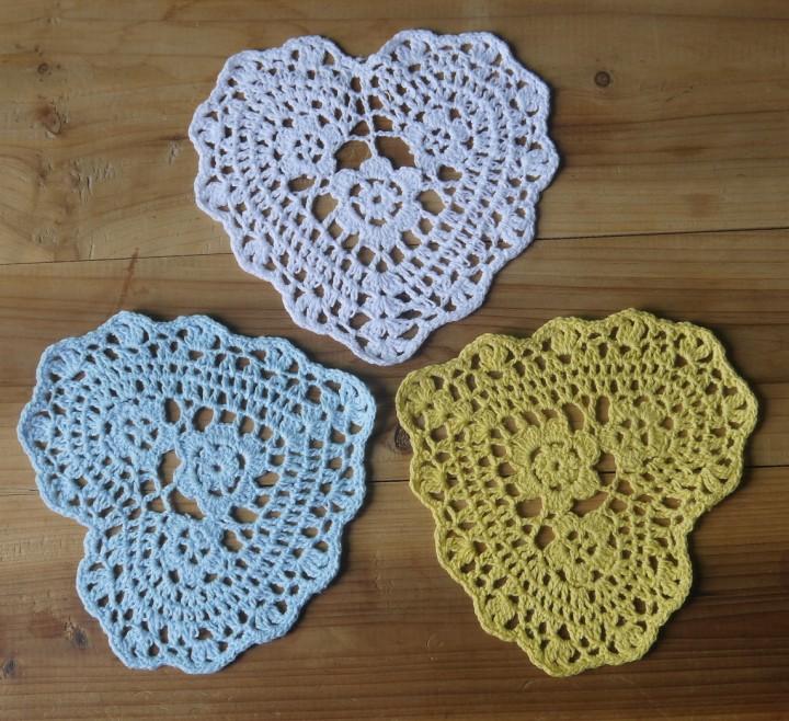 Crochet Heart Doily Pattern