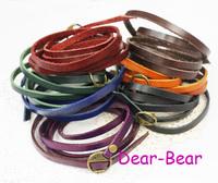 Vintage Extra Long Leather Bracelet Multi layers Bracelet can use as belt or watch band , 12 pcs/lot