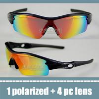 2013 o brand sunglasses black frame mirror lens driving glasses radar path mens sports bike bicycle cycling glasses polarized