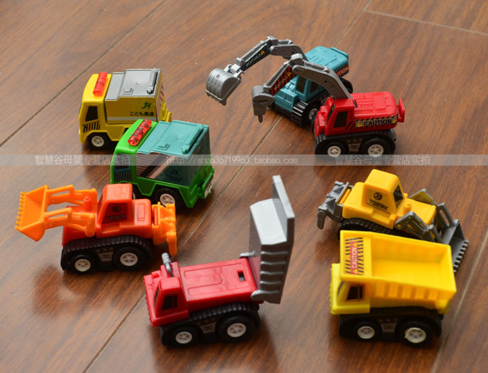 Drop Shipping 3 Sets Pull Back Car Toys Series of Trucks Children Racing Car Toys Baby Mini Cars 8Pcs/set Children Best Gift(China (Mainland))