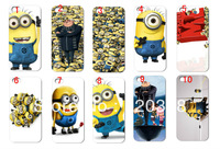 New 10pcs /lots wholesale Despicable Me hard white case cover for iphone 4 4G 4S + free shipping