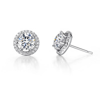2013 Zhuo- top simulation new grace1 ct silver micro setting earring