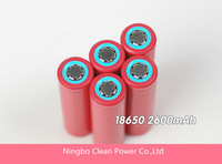 HOT selling! 4pcs/Lot  Sanyo 18650 2600mAh Li-ion rechargeable battery Free Shipping