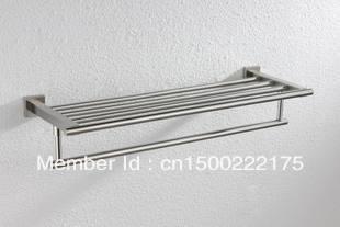 Imported SUS304 stainless steel towel rack double four-bar five hook towel rack bathroom hardware accessories