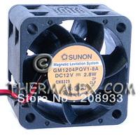 The original built quasi-the SUNON 1U2U server fan 4cm 4028 12V 2.8W GM1204PQV1-8A+cooling fan